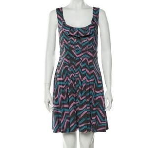 MARC BY MARC JACOBS Gray abstract  Chevron  Dress